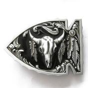 Arrowhead Bull Native Belt Buckle