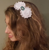 Ohio Bobcats Shabby Chic Flower Hair Bow Adult/Child Headband