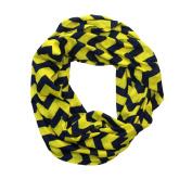 Yellow & Navy Chevron Infinity Scarf