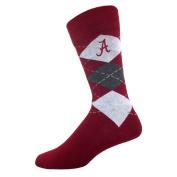 For Bare Feet Alabama Crimson Tide Argyle Crew Socks Socks Shoe size 9-12 NCAA licenced