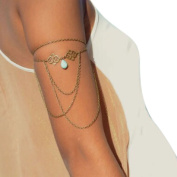 Lookatool Turquoise Drop Arm Harness Slave Chain Upper Armband Cuff Armlet Bracelet