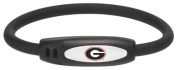 NCAA Georgia Bulldogs Active Wristband, Black, Medium