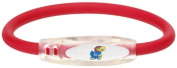 NCAA Kansas Jayhawks Active Wristband, Red, Large