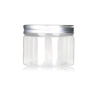 120ml/4 Oz Jars PET Plastic Empty Cosmetic Containers Cases with Silver Aluminium Caps Cream Lotion Box Ointments Bottle Food Bottle Makeup Pot Jar Pack of 6