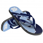 NCAA North Carolina Tar Heels 2015 Big Logo Flip Flop, Medium, Blue