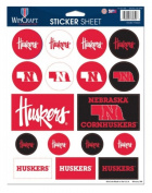 NCAA University of Nebraska Cornhuskers 22cm x 28cm Sticker Sheet