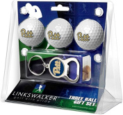 NCAA Pittsburgh Panthers - 3 Ball Gift Pack with Key Chain Bottle Opener