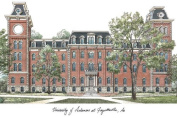 """Campus Images """"University of Arkansas"""" Lithographic Print"""