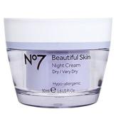 Boots No7 Beautiful Skin Night Cream for DRY/VERY DRY Skin 50ml