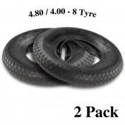 AllRight Tyre & Inner Tube 4.80 4.00 - 8 Wheelbarrow Tyre And Inner Tube 20(PSI) 2 Pcs