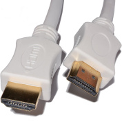 kenable HDMI 1.4 High Speed Cable for 3D TV with Ethernet & ARC White 0.25m