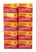 10 Rolls Kodak Colour Plus 35 mm 200/24 - Pack of 10 PZ. Film, Photography