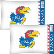 NCAA Kansas Jayhawks Football Set of Two Pillowcases