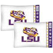 NCAA Louisiana State Tigers Football Set of Two Pillowcases