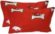 College Covers NCAA Arkansas Razorbacks Pillowcase Pair, King, Red