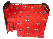 College Covers Texas Tech Red Raiders Baby Crib Fitted Sheet Pair - White
