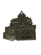 Florida Gators Pewter Gift Package Christmas Ornament
