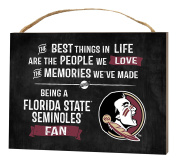 KH Sports Fan 1000101227 10cm x 14cm Florida State Seminoles Best Things Small Collage Plaque