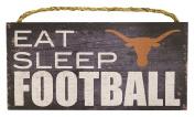 NCAA Texas Longhorns 30cm x 15cm Eat Sleep Football Wood Sign
