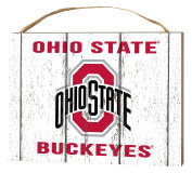 KH Sports Fan 1000102387 10cm x 14cm Ohio State Buckeyes Weathered Logo Small Collage Plaque