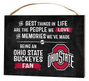 KH Sports Fan 1000101387 10cm x 14cm Ohio State Buckeyes Best Things Small Collage Plaque