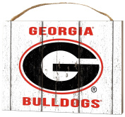 KH Sports Fan 1000102237 10cm x 14cm Georgia Bulldogs Weathered Logo Small Collage Plaque