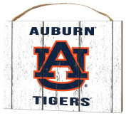 KH Sports Fan 1000102114 10cm x 14cm Auburn Tigers Weathered Logo Small Collage Plaque