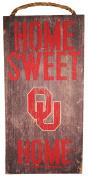 NCAA Oklahoma Sooners 15cm x 30cm Home Sweet Home Wood Sign