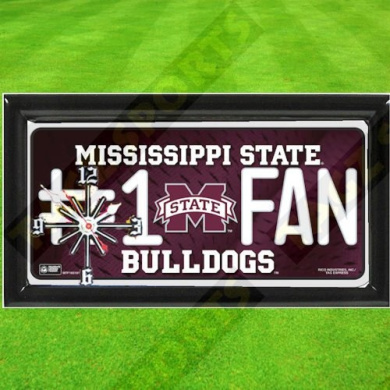 MISSISSIPPI STATE BULLDOGS NCAA CLOCK - BY TAGZ SPORTS -  .