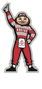 13cm Brutus OSU Ohio State University Buckeyes Removable Wall Decal Sticker Art NCAA Home Decor 6.4cm wide by 13cm tall