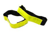 HI VIS YELLOW REFLECTIVE 25mm CYCLING ARM OR LEG BANDS SAFETY HI-VIZ OUTDOORS