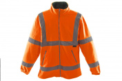 HI VIZ VIS MEDUIM FLEECE JACKET HIGH QUALITY WORKWEAR WATERPROOF ORANGE 75%