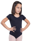 Happy Dance 1004 - Children ballet leotard, black colour, size 8