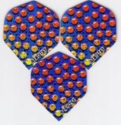 Set of 3 Aerotex Metallic Fly Multi-Coloured _ balls _ 71
