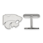 Kansas State University Wildcats Cuff Link in Sterling Silver 7.97 gr