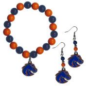 NCAA Boise State Broncos Fan Bead Earrings & Bracelet Set