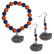 NCAA Florida Gators Fan Bead Earrings & Bracelet Set