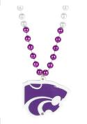 K-State Kansas State Wildcats Spirit Bead Necklace & Diecut Powercat Medallion