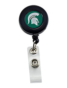 Brand New NCAA Michigan State Spartans Team Logo Sport Fan Retractable Badge Reel Id Ticket Clip Holders