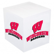Wisconsin Badgers Post-it Note Cube - Team Colour