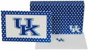 NCAA Kentucky Wildcats Polka Dot Design  stationery  Note Card Set