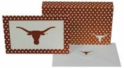NCAA Texas Longhorns Polka Dot Design  stationery  Note Card Set