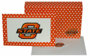 NCAA Oklahoma State Cowboys Polka Dot Design  stationery  Note Card Set
