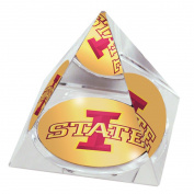 NCAA Iowa State University, The Cyclones logo on a 5.1cm Crystal Pyramid