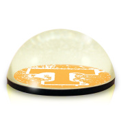 NCAA Tennessee University Volunteers logo in 5.1cm crystal magnetised paperweight with Coloured Window Gift Box