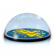 NCAA West Virginia University Mountaineers logo in 5.1cm crystal magnetised paperweight with Coloured Window Gift Box