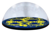 NCAA Michigan University logo in 5.1cm crystal magnetised paperweight with Coloured Window Gift Box