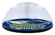 NCAA Michigan University Stadium in 5.1cm crystal magnetised paperweight with Coloured Window Gift Box