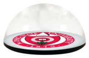 NCAA Ohio State University, OSU Buckeyes 1870 seal in 5.1cm crystal magnetised paperweight with Coloured Window Gift Box