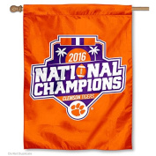 Clemson National Champions 2016 Double Sided House Flag